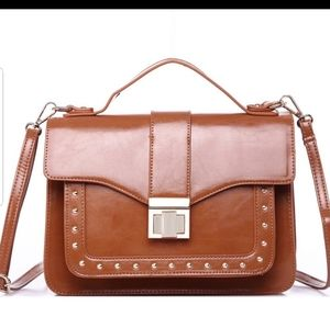 Oralee Structured Crossbody in Brown